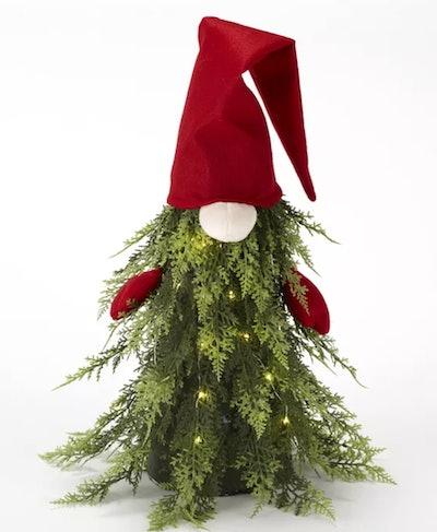 Christmas Tree Sitting Gnome Decoration
