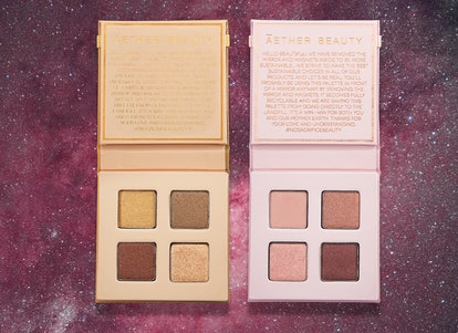Both of the new Aether Beauty Mini Crystal Eyeshadow Palettes.