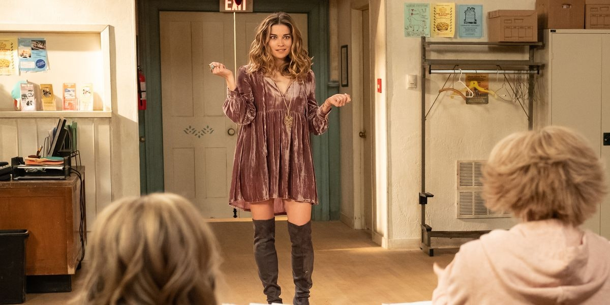 Alexis (Annie Murphy) stands in the audition room in an episode of 'Schitt's Creek.'