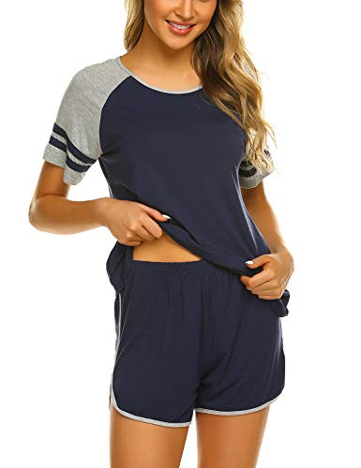 Ekouaer  Short-Sleeve Sleepwear Set