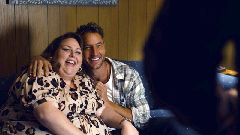 Justin Hartley as Kevin Pearson and Chrissy Metz as Kate Pearson on 'This Is Us' via NBC Press Site