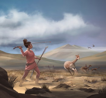 Prehistoric hunters female