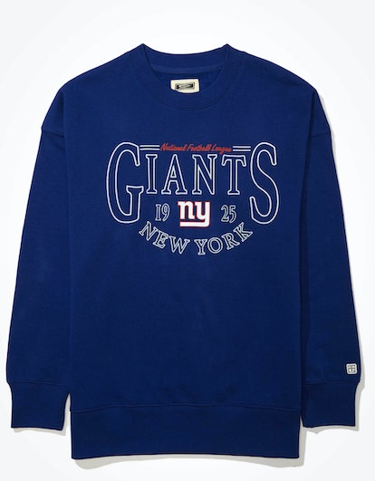 Tailgate Women's NY Giants Oversized Fleece Sweatshirt