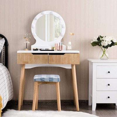 Giantex Vanity Table Set