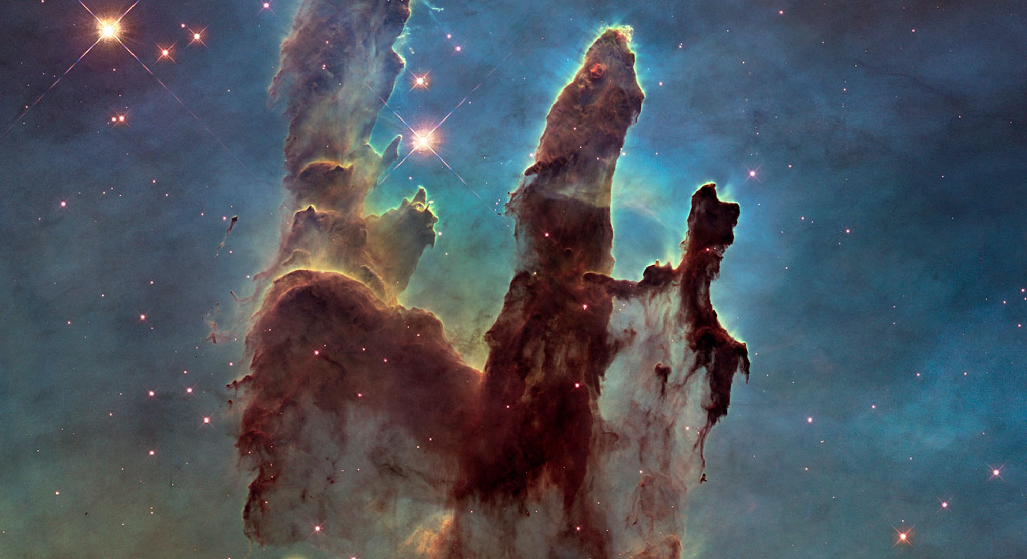 Hubble deep space nebula stars