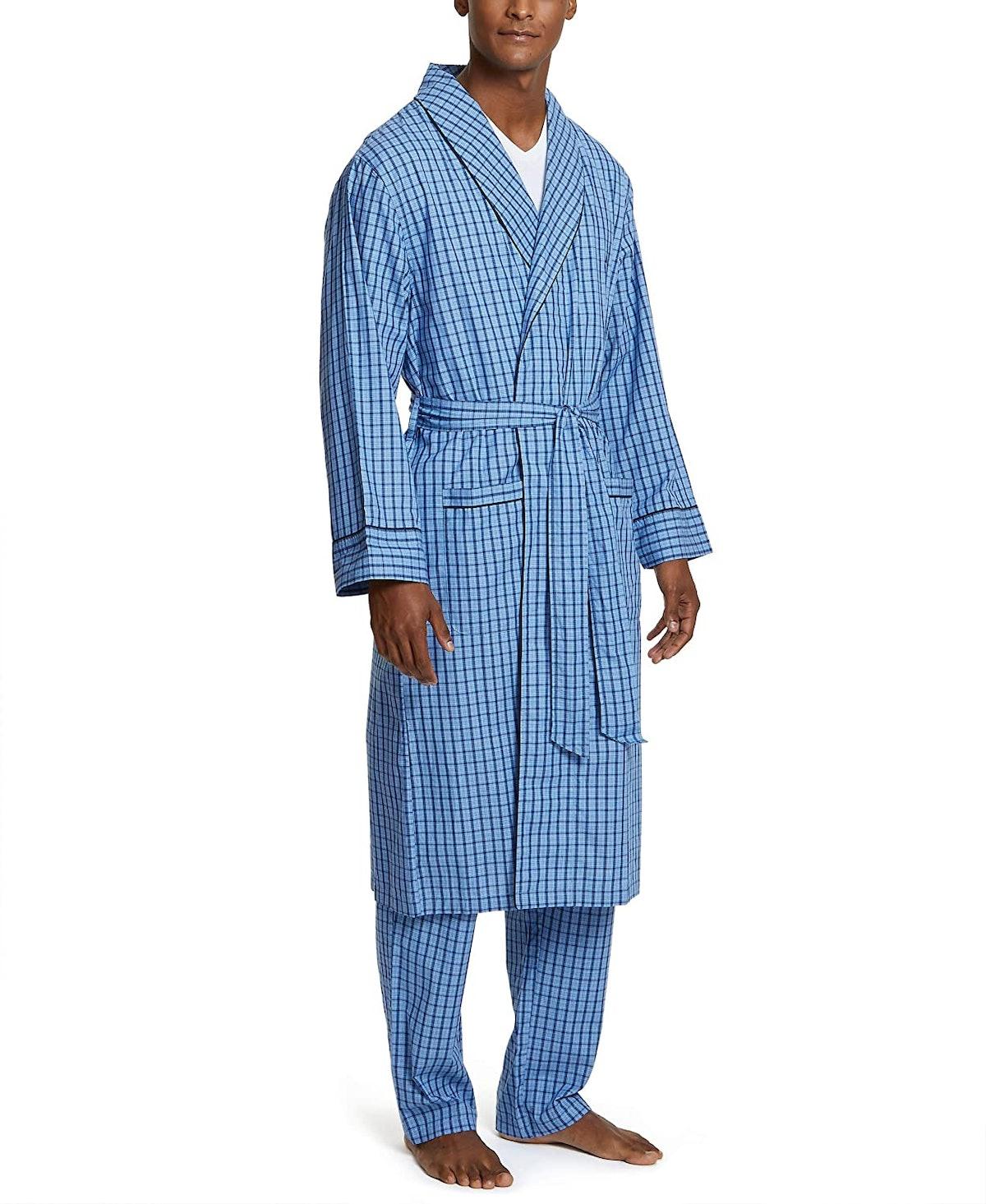 Nautica Men's Lightweight Cotton Woven Robe