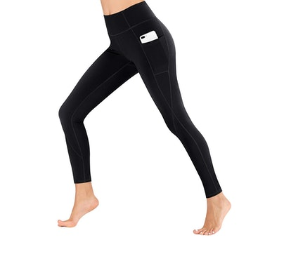 Heathyoga High-Waisted Pocketed Yoga Pants