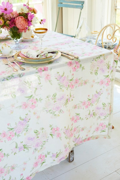 Happy Thoughts Linen Tablecloth