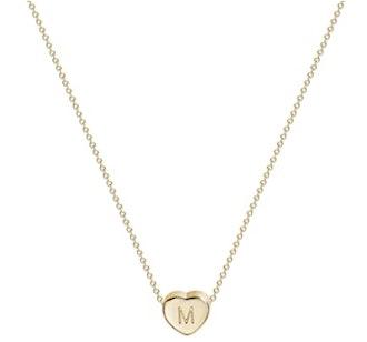 Fettero 14k Gold Initial Heart Necklace
