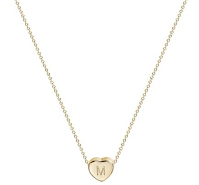 Fettero 14k Gold Initial Heart Necklace