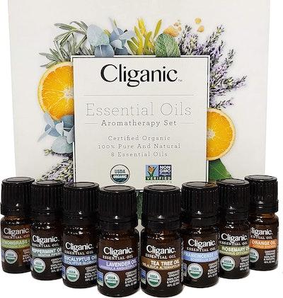 Cliganic Organic Aromatherapy Essential Oils Set (Set of 8)