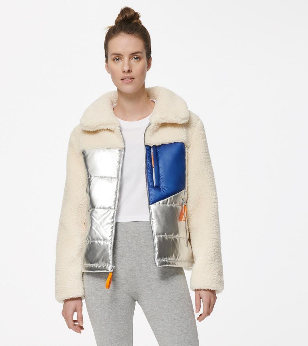 Mixed Media Puffer Jacket