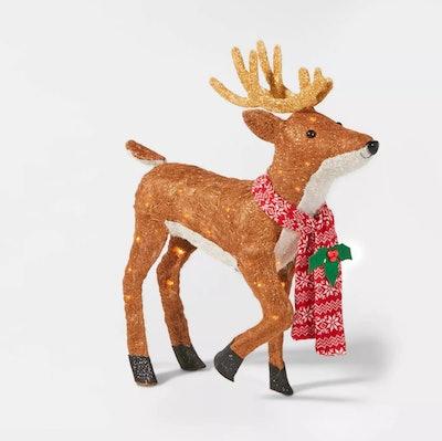 Nordic Deer with 50ct Incandescent Sisal Lights