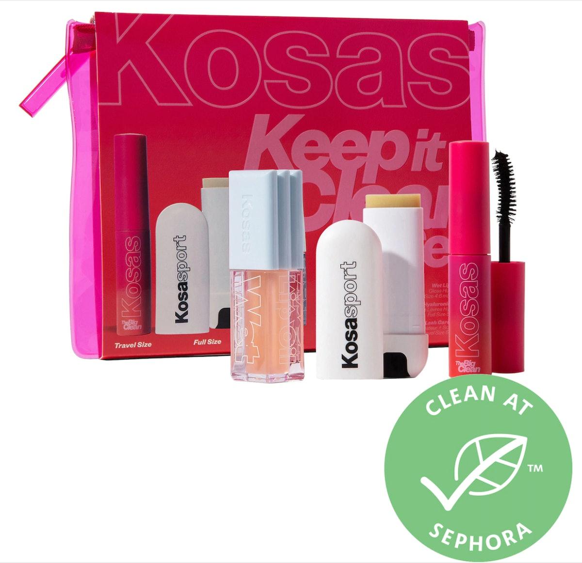 Kosas Keep It Clean - Clean Volumizing Mascara and Hydrating Lip Set