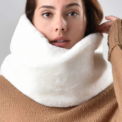 FURTALK Faux-Fur Neck Warmer Scarf