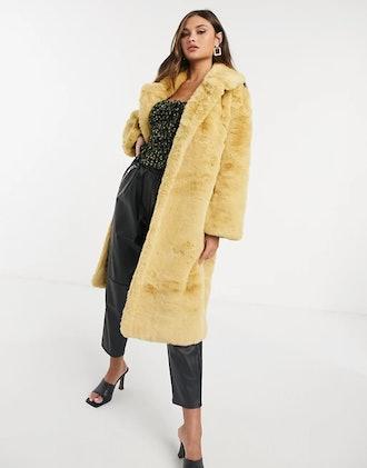 Jayley Longer Length Faux Fur Coat