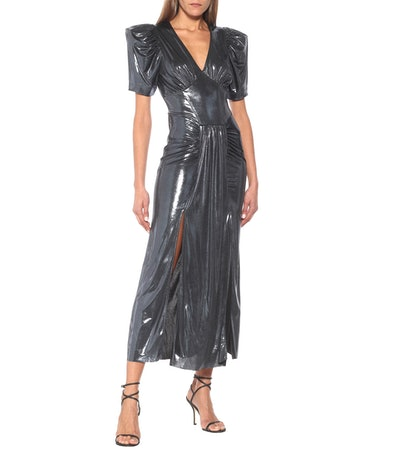 Alma Metallic Maxi Dress