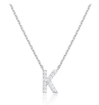 PAVOI Cubic Zirconia Initial Necklace
