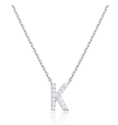PAVOI Cubic Zirconia Initial Necklace