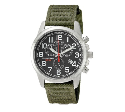 Citizen Eco-Drive Chronograph Canvas Watch