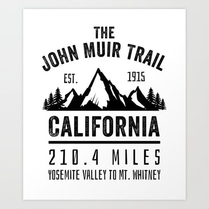 The John Muir Trail JMT Art Print