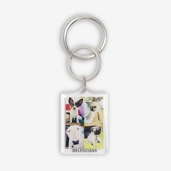 """Balenciaga """"I Love Dogs"""" Keychain"""
