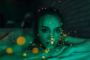Tangled in fairy lights