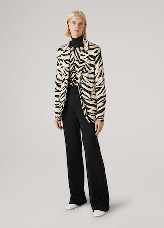 Viscose Tiger Jacquard Knit Jacket