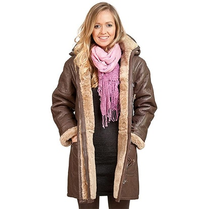 Infinity Store Hooded Shearling Duffle Coat