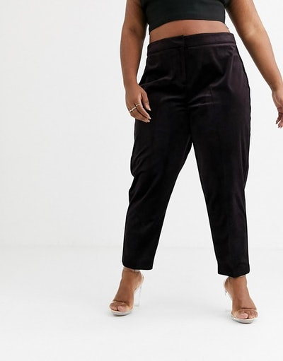 Curve Velvet Tux Slim Suit Pants