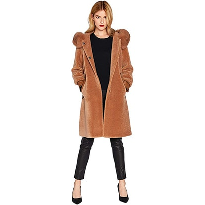 Smart Universe Shearling Teddy Fur Coat