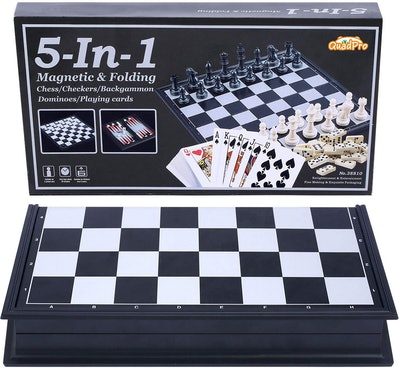Quadpro 5-in-1 Magnetic Board Game Set