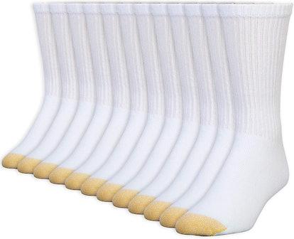 Gold Toe Men's Cotton Crew Athletic Sock (12-Pack)
