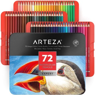 Arteza Professional Watercolor Pencils (72-Piece)