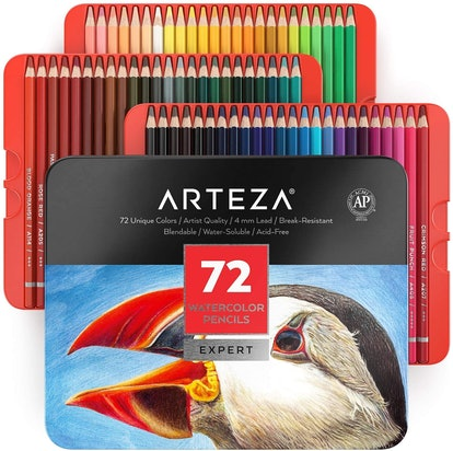 Arteza Professional Watercolor Pencils (72-Piece)