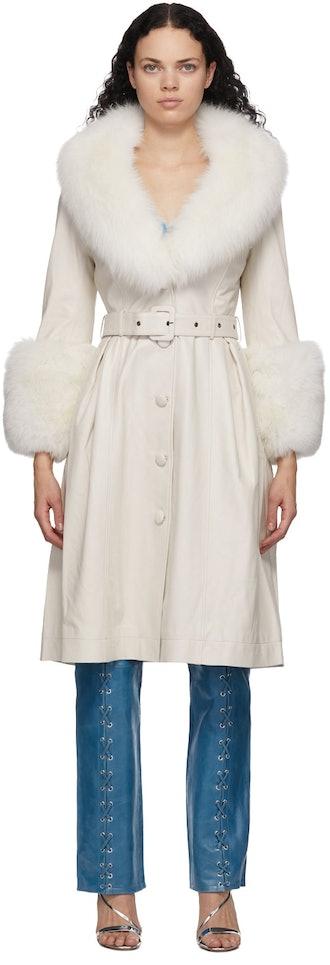 White Fur Foxy Coat