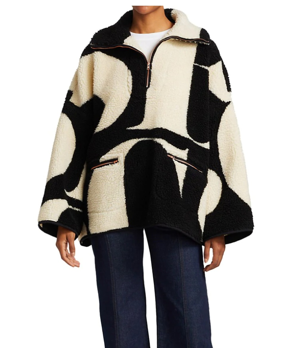 Multi Pullover Teddy Coat