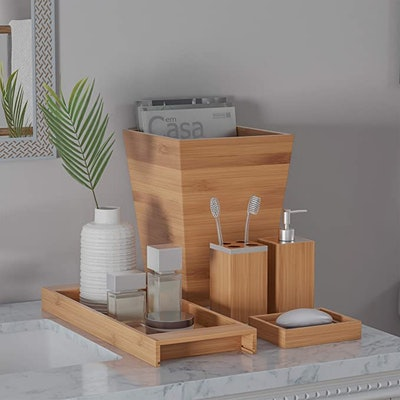 Lavish Home Bamboo Bath Accessories (5-Piece Set)