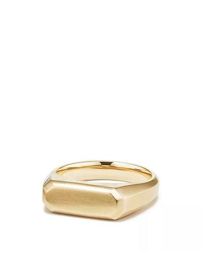 Streamline® Signet Ring in 18K Gold
