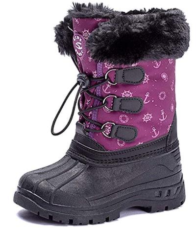UBFEN Kids Snow Boots Boys Girls Winter Warm Waterproof Outdoor Slip Resistant Cold Weather Unisex Shoes