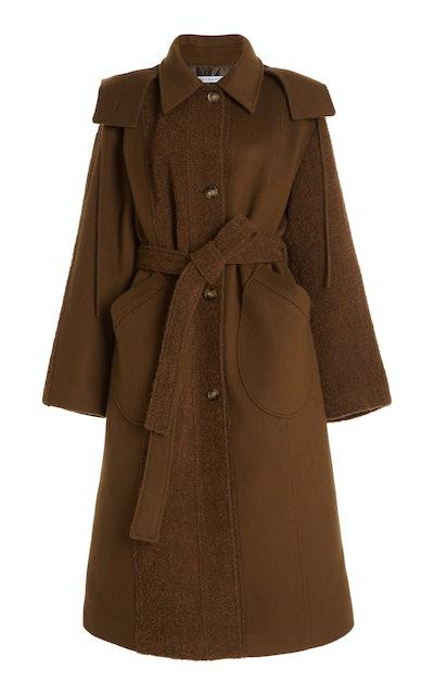 Charlie Coat Wool Boucle Brown