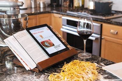 TOSCANA Acacia Wood Cookbook Stand