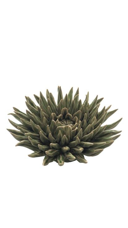 Olive Ceramic Chrysanthemum