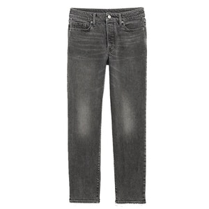 High-Waisted O.G. Straight Ankle Gray Button-Fly Jeans