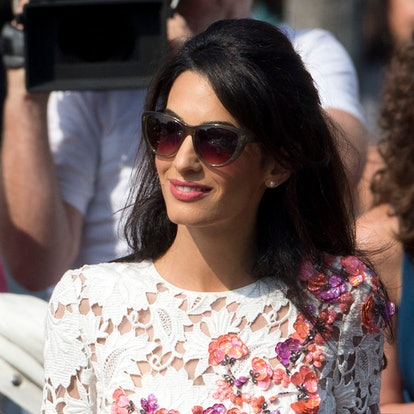 Amal Clooney's most iconic hairstyles: Wedding weekend with George Clooney.