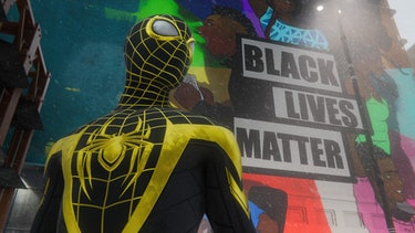 spider-man miles morales black lives matter mural
