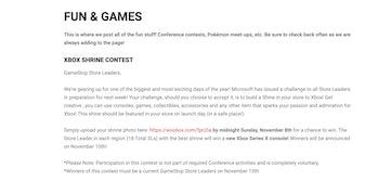 GameStop Xbox shrine contest screenshot