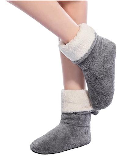 FRALOSHA Velvet Slipper Socks