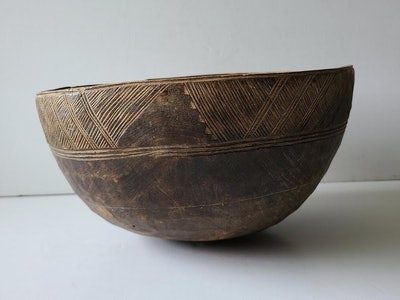 Wooden Milking Bowl From Africa