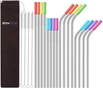 StrawExpert Reusable Straws (16-Pieces)